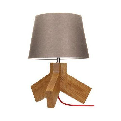 Lampa stołowa spot light tilda 1x60w e27 dąb/chrom/czerwony/szaro-brązowy 6613670 marki Spotlight