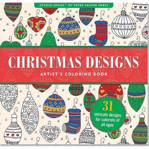 Peter pauper press Kolorowanka artystyczna świąteczne wzory