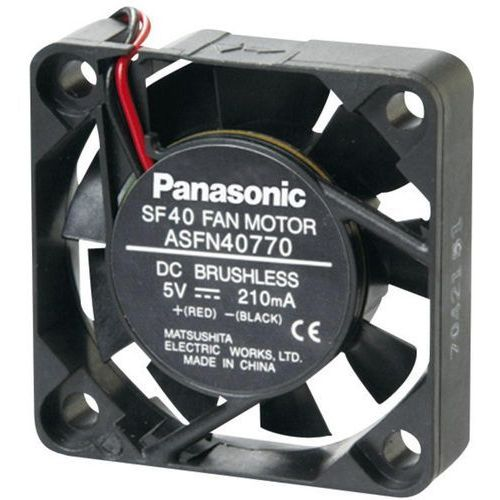Panasonic Wentylator osiowy  asfn44770, 5 v/dc, 7.2 m³/h, (dxsxw) 40 x 40 x 10 mm (2050001607676)