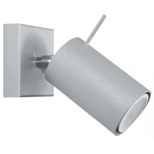 Kinkiet LAMPA ścienna SPARK SM449 MDECO regulowana OPRAWA metalowa tuba szara (1000000470321)
