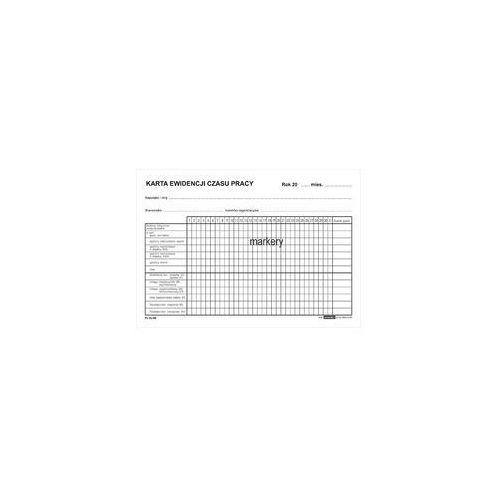 Druk Karta ewidencji czasu pracy Zo-95 A5 (5908309977854)