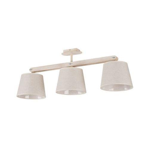 Plafon LAMPA sufitowa KAFFE 3 18305 Sigma OPRAWA abażurowa regulowana drewno beżowy
