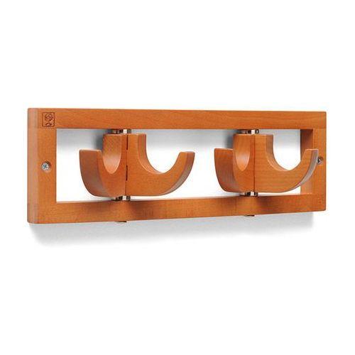 Foppapedretti Wieszak ścienny drewniany flat 2 - orzech włoski