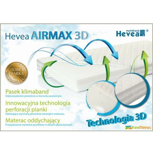 MATERAC PIANKOWY HEVEA AIRMAX 3D AEGIS 130X70 + narożniki ochronne gratis!!