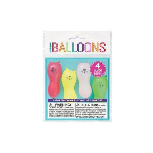Unique Baloniki kształty zwierzątka - mix kolorów - 4 szt.