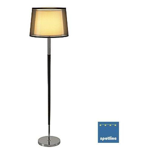 Lampa stojąca podłogowa bishade sl-1 1x40w e27 czarno-biała/chrom 155652 marki Spotline