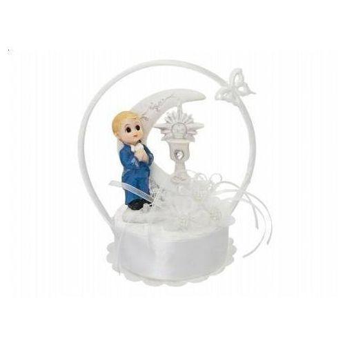 Party deco Figurka gipsowa komunijna na tort chłopiec, 15 cm, 1 szt.