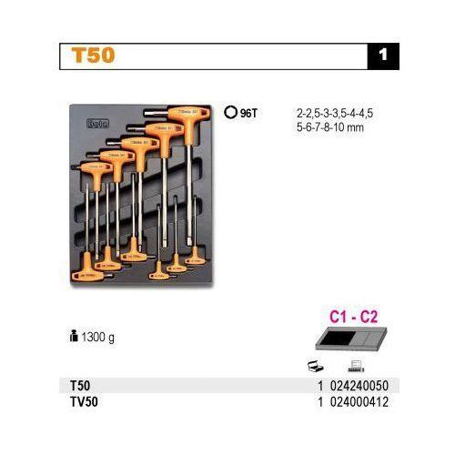 Beta Wkład profilowany twardy do zestawu narzędzi 2424/t50, pusty, model 2400/tv50