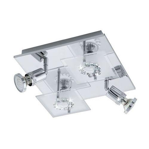 Eglo 94529 - led reflektor punktowy balerna 4xgu10-led/3w/230v kryształ (9002759945299)