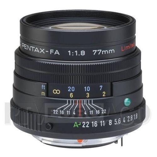 Pentax  fa 77 mm smc f1.8 limited osłona na czarnym (0027075050631)