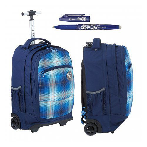 chiemsee ss16 plecak na kółkach wheely: l0551 plaid regatta + długopis frixion gratis marki Hama
