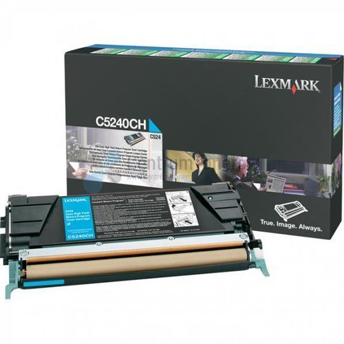 oryginalny toner c5240ch, cyan, 5000s, return, lexmark c524 marki Lexmark