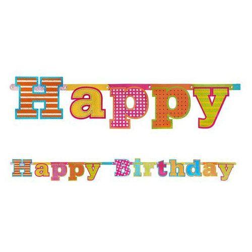 BANER HAPPY BIRTHDAY 16x166 cm (5901157440044)