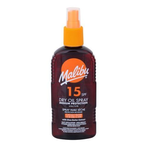 dry oil spray spf15 preparat do opalania ciała 200 ml dla kobiet marki Malibu