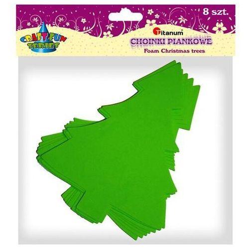 Dodatek dekoracyjny Craft-fun Choinki z pianki FX099 wys. 21cm mix (AD099)