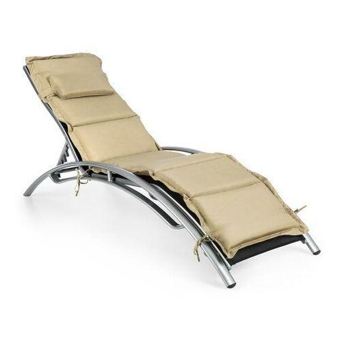 intermezzo leżak do opalania aluminium tapicerka pu beżowy marki Blumfeldt