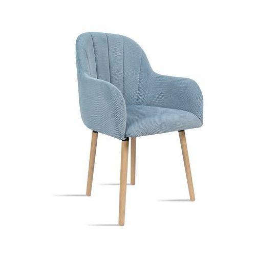 Krzesło BESSO niebieski/ noga dąb/ LU2782