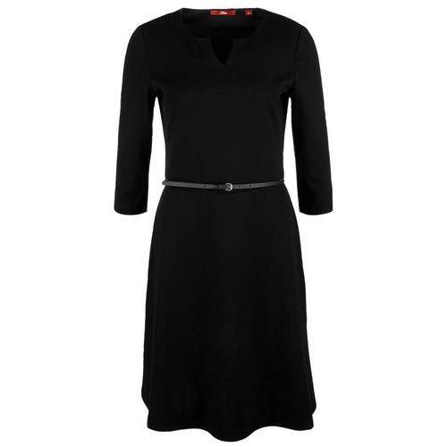s.Oliver sukienka damska 34 czarna, kolor czarny