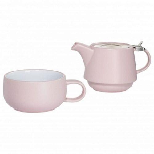 Maxwell & williams - tint - zestaw tea for one, różowy