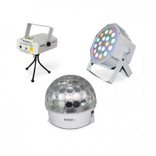Ibiza bat-kit zestaw efektów świetlnych efekt astro laser firefly reflektor par (5420047127495)