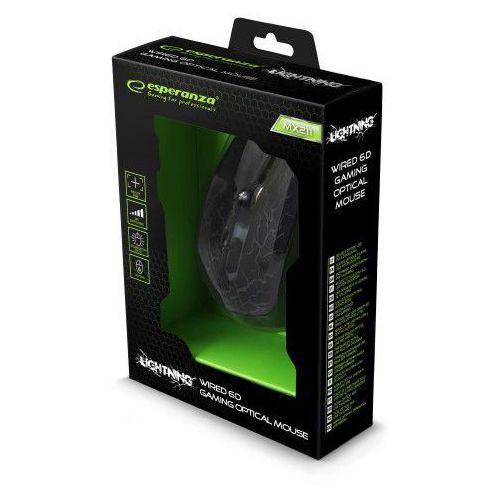 Mysz przew. dla graczy Esperanza MX211 LIGHTNING 6D OPT. USB, 5B46-5178C