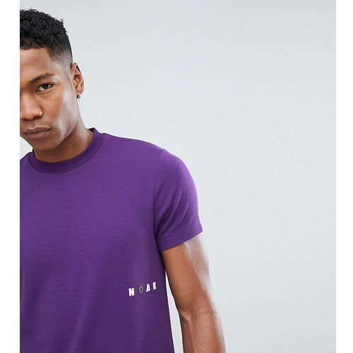 t-shirt in sports jersey with printed logo - purple marki Noak