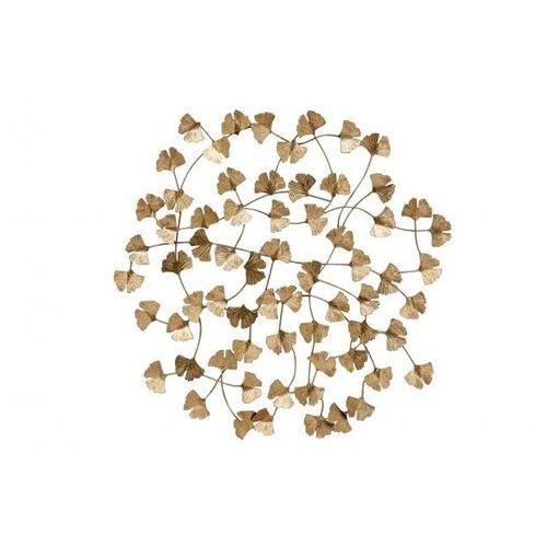 metalowa dekoracja ścienna wallflowers antyczny mosiądz 800039-b marki Be pure