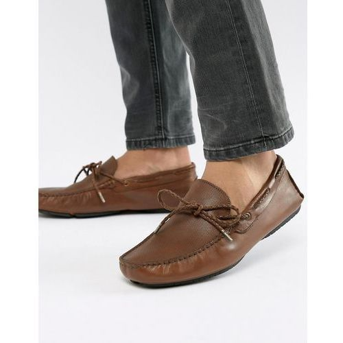 Dune Driving Shoes In Tan Leather - Tan