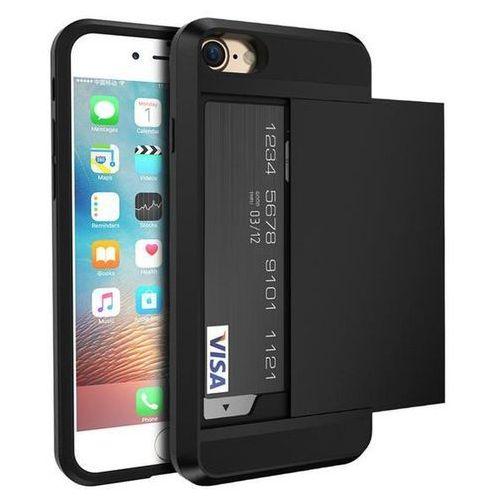 Etui typu zbroja z miejscem na kartę kredytową dla iPhone 6 - Czarne - Czarny \ iPhone 6, kolor czarny