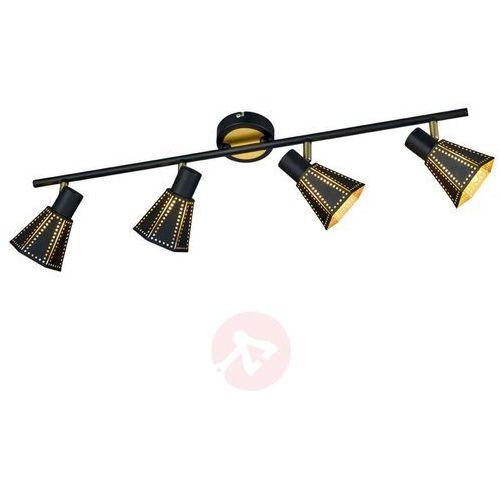 Trio-Leuchten Houston Lampa Sufitowa Czarny, 4-punktowe - Nowoczesny - Obszar wewnętrzny - HOUSTON - Czas dostawy: od 4-8 dni roboczych (4017807351644)