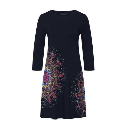 Desigual sukienka damska Vest Mara XS czarna, kolor czarny