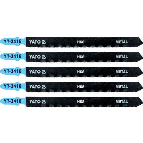 Brzeszczot do wyrzynarki typ t, 21 tpi, do metalu, 5 szt Yato YT-3416 - ZYSKAJ RABAT 30 ZŁ, YT-3416