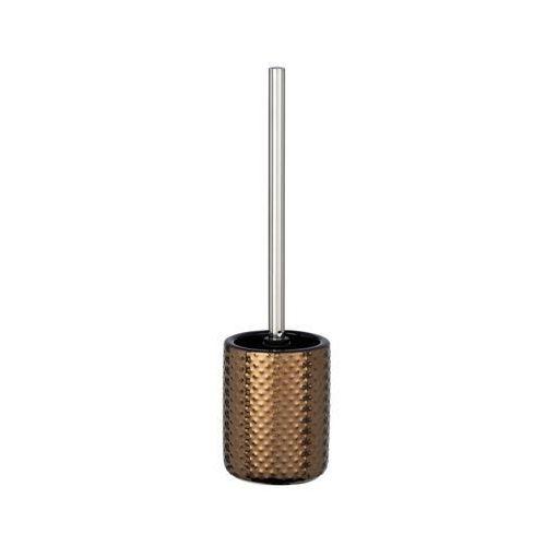 Zestaw WC Keo szczotka + pojemnik, kolor miedziany, wykonany z ceramiki, wymienna główka, wymiary 10.5x39.5 cm, marka WENKO (4008838242728)