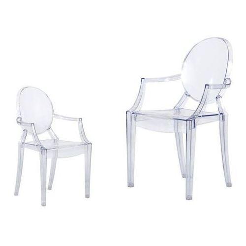 D2.design Krzesło dziecięce mini royal junior inspirowane louis ghost - transparentny