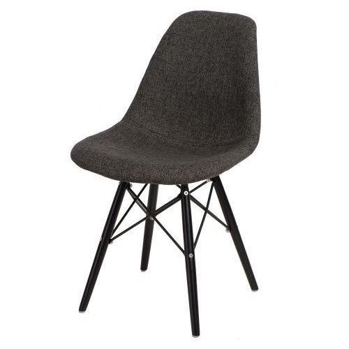 Krzesło P016W Pattern inspirowane DSW black - szary, kolor czarny