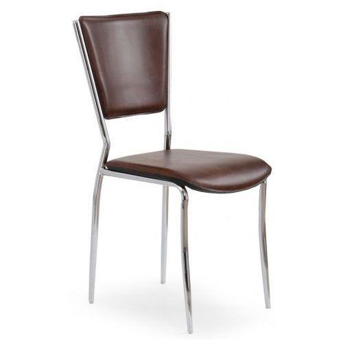 Tapicerowane krzesło Voltan - brązowe, kolor Tapicerowane