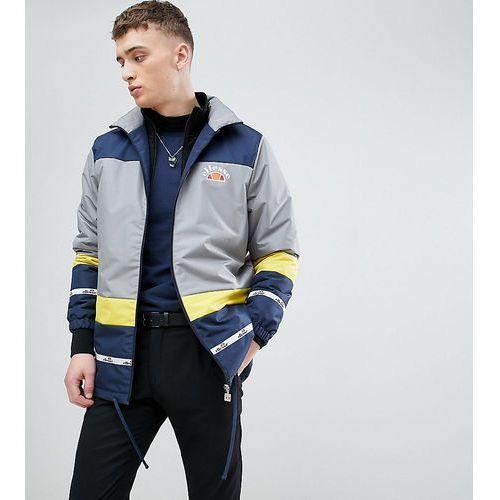 Ellesse colour block track jacket with back panel print in blue - blue
