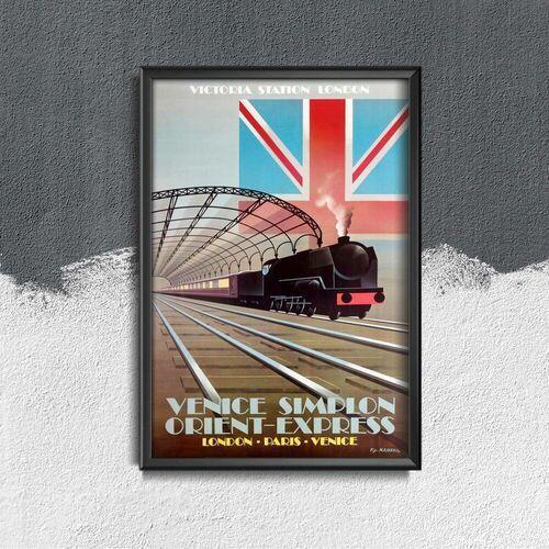 Plakat vintage do salonu plakat vintage do salonu orient express travel marki Vintageposteria.pl