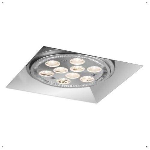 Podtynkowa lampa sufitowa yatomi 3330/gu10/bi metalowa oprawa regulowana wpust do zabudowy biały marki Shilo