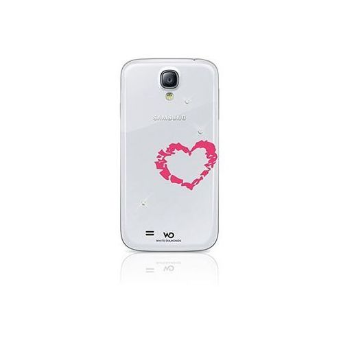 Etui HAMA do Samsung Galaxy S4 White Diamonds Heart, kolor biały