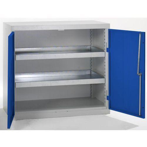Szafa ekologiczna, drzwi zamknięte, wys. x szer. x głęb. 900x1000x500 mm, 2 półk