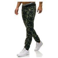 Spodnie męskie dresowe joggery zielone denley w1117 marki Red fireball