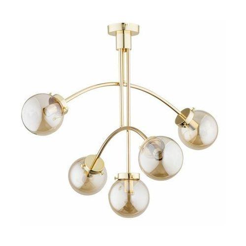 Alfa lusco 2713510 plafon lampa sufitowa 5x40w e14 złoty (5900458271357)