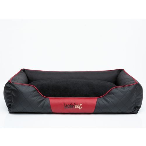 Hobbydog R3 legowisko cesarskie exclusive - czarne z czerwoną lamówką