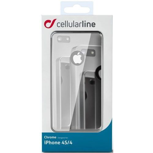Etui CELLULAR LINE Chrome do Apple iPhone 4 Szary, kolor szary