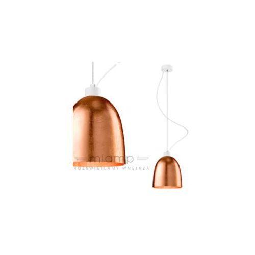 LAMPA wisząca AWA 1/S/COPPER/OPAL Sotto Luce szklana OPRAWA zwis miedziany (1000000199154)