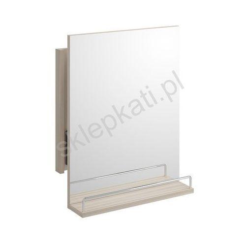 smart lustro wysuwane z półką i relingiem 50 x 65 cm, kolor jesion jasny s568-037 marki Cersanit