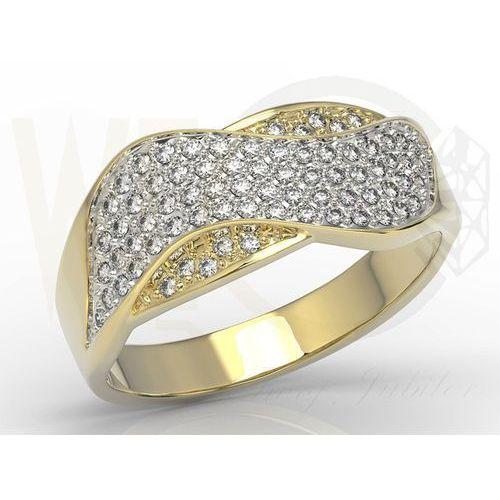 Węc - twój jubiler Pierścionek z żółtego złota z brylantami model ap-7937z-r, 0,37 ct h/si