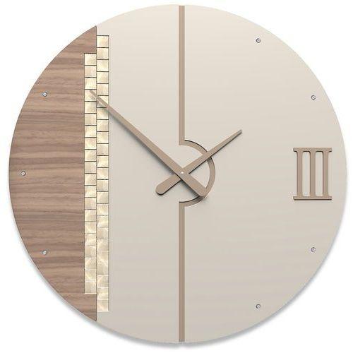 Zegar ścienny Tristan Swarovski CalleaDesign orzech włoski, caffelatte (10-213-85)