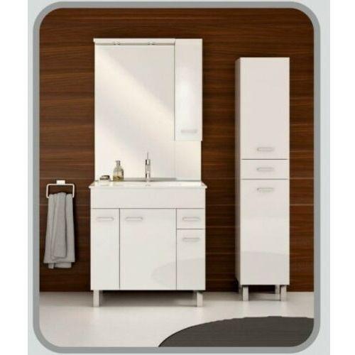 DEFTRANS CATANIA Zestaw szafka + umywalka plan 80, biały 034-Z-08004+1724